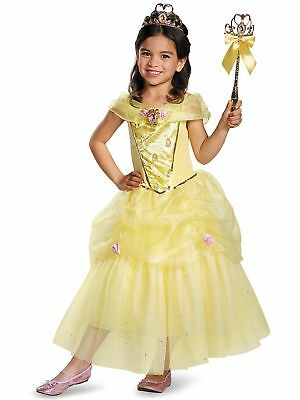 Belle Deluxe Disney Princess Beauty & The Beast Costume, X-Small/3T-4T.