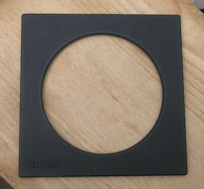 genuine Sinar F & P  lens board panel with large 102.2mm hole