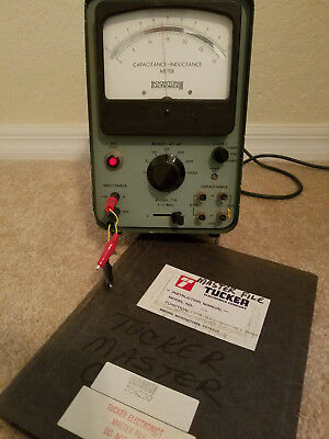 Vintage Boonton 71a Capacitance Inductance LC Meter Vacuum Tube - Works!