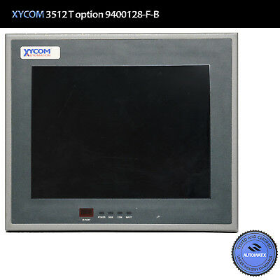 Xycom 3512T operator interface color touch screen / option 9400128-F-B // USED