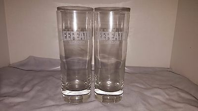 Beefeater London Dry Gin Set of 2 Frosted Cocktail Glasses BARWARE
