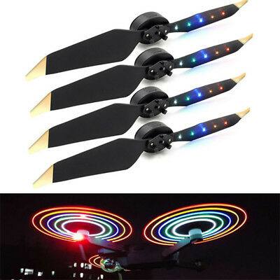 4x Night Flying Rechargable Prop 5 Color LED Flash Propeller Blade For DJI Drone