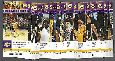 2010-2011 Nba La Lakers Complete Full Season Basketball Tickets - Kobe - 43 Tix