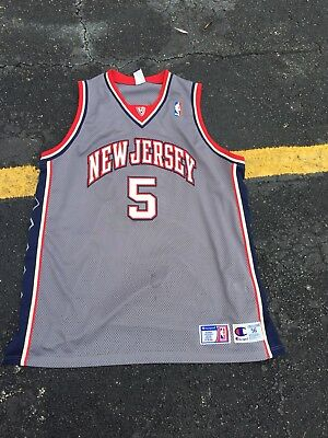 603871408ac Jason Kidd New Jersey Nets Authentic Gray Stitched Champion Jersey Size 56