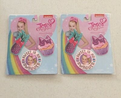 NEW Lot of 2 JoJo Siwa Adhesive Patches Decorations Packs Gift 6 Total Tween
