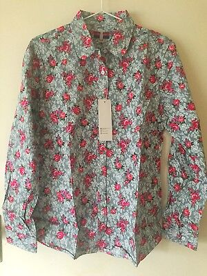 Western Shirt Long Sleeve Womens Rodeo Cowgirl Campdraft Size M 12-14 Floral