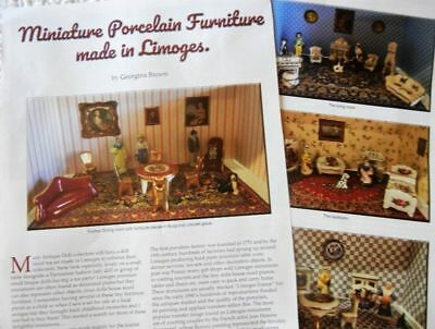 5p History Article + Pics - Antique Limoges French Doll House Furniture