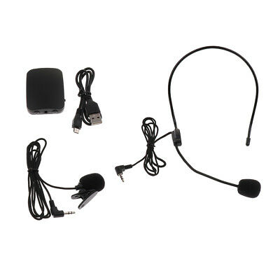 1 Set Wireless Headset Lapel Clip On Microphone FM Mic for Speech Outdoor