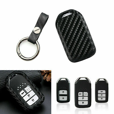 Carbon Painted Soft Key Cover FOB For Honda Accord Civic Pilot CR-V HRV