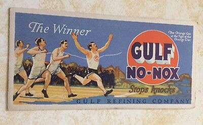 Vtg Gulf Oil Company Fuel Oil Ink Blotter Unused No Nox THE WINNER