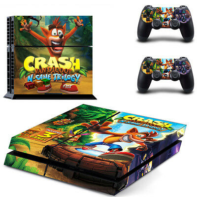 PS4 Console Skin Crash Bandicoot Cover Decal Playstation 4 Controller Sticker