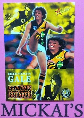 Afl Select - Richmond Football Club - Brendon Gale - Footy Trading Card - 1995