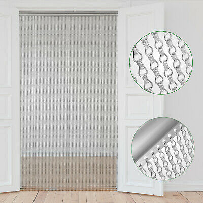 Aluminium Fly Pest Door Screen Aluminium Chain  doorway Screen CE APPROVED