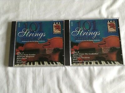 101 Strings With Piano Cd's - Volume 1 & 2