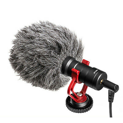 BY-MM1 Cardiod Shotgun Video Microphone MIC Video for iPhone Samsung Camera HU