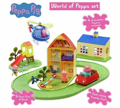Peppa Pig World of Peppa Playset Bikes, And Even A Road Track! Also Includes Pig