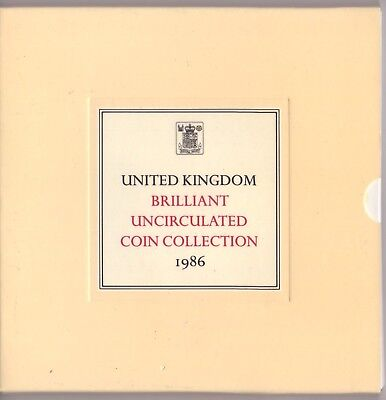 1986 United Kingdom Royal Mint Brilliant Uncirculated 8 Coin Collection - Sealed