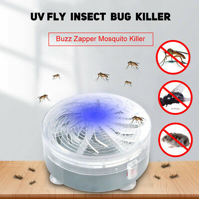 Wireless Solar Buzz Zapper UV Light Fly Insect Bug Mosquito Wasp Killer Lamp New