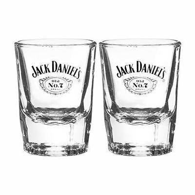 89393 JACK DANIELS OLD NO 7 SET 2 60ml CARTOUCHE SHOT GLASSES ALCOHOL DRINKING