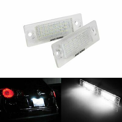 2x VW Canbus LED Licence Number Plate Light Golf Jetta Caddy Passat Transporter