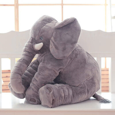 Cute Long Nose Elephant Sleep Pillow Soft Baby Plush Toy Lumbar Cushion Doll HOT