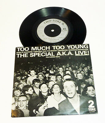 "Special A.K.A. ""Too Much Too Young"" UK M- 1980 LIVE 7"" EP 2-TONE SPECIALS"