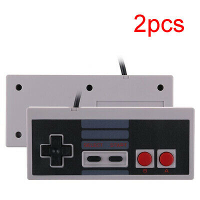2 PCS Classic Gaming Controller Gamepad For Nintendo NES 8 Bit System Console