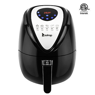 1500W 5.8 QT Electric Air Fryer Healthy Low-Fat Multi-Cooker Oilless Cook NEW