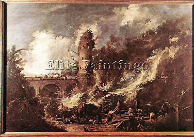 Magnasco Alessandro Storm At The Sea Artist Painting Reproduction Handmade Oil