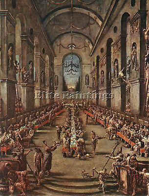 Magnasco Alessandro Observant Friars Refectory Artist Painting Oil Canvas Repro