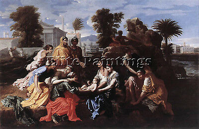 Nicolas Poussin  The Finding Of Moses Artist Painting Reproduction Handmade Oil
