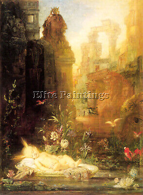 Gustave Moreau Young Moses Artist Painting Handmade Oil Canvas Repro Art Deco
