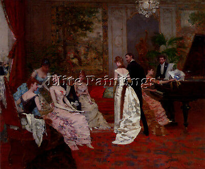 Miralles Francisco The Recital Artist Painting Reproduction Handmade Oil Canvas
