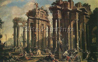 Magnasco Alessandro Halt Brigands Artist Painting Reproduction Oil Canvas Repro