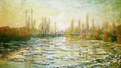 Monet The Ice Floes Artist Painting Reproduction Handmade Oil Canvas Repro Deco