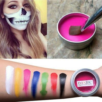 Halloween 12 Colors Flash Tattoo Face Body Paint Oil Painting Art Party Make up