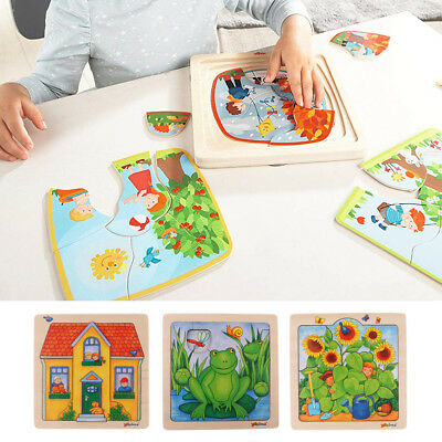 Wooden Kids Jigsaw Toys Early Education Learning Puzzles Children Gift