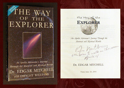 EDGAR (ED) MITCHELL SIGNED - WAY OF THE EXPLORER, Apollo 14 Moonwalker Astronaut