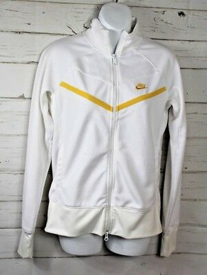 586856cc7564 Nike Women s Full Zip Throwback Track Jacket Size Medium White Tennis  Running