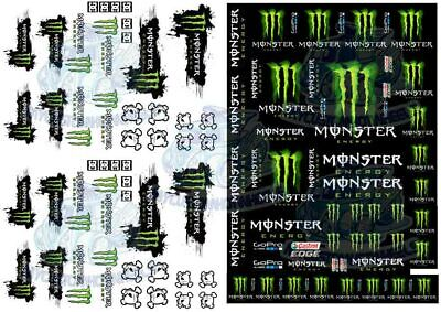 Monster Energy | Waterslide Decals for 1/64 1/43 1/32 1/24 & 1/18 scale Models