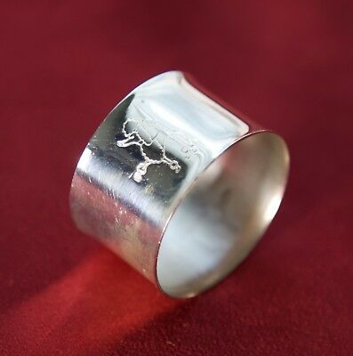 Vintage Sterling Silver Plated Napkin Ring - Dog - Poodle