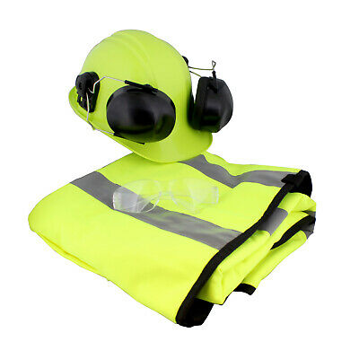 Felled | Chaps – Hard Hat with Ear Protection Mesh Face Shield – Glasses