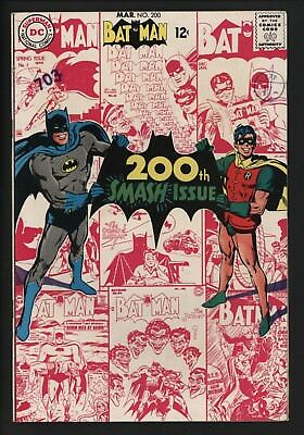 Batman #200 Lovely Original Owner Vf- Very Glossy Copy Wite Pages. Vs Scarecrow