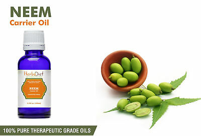 Neem Oil 100% Pure Virgin Undiluted Unrefined Cold Pressed Natural Raw Oil