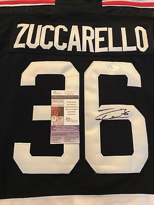 e844fadc7 Mats Zuccarello New York Rangers Autographed Signed Jersey size L JSA COA