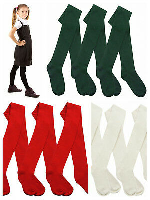 i2i Girls School Tights Cotton Rich Soft Winter School Tights Age 2 to 10 Years