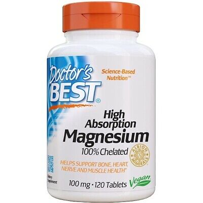 Magnesium, High Absorption, 100% Chelated, 120 Tablets - Doctors Best