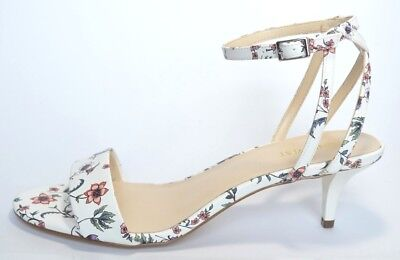 1fa93564f4fc66 Nine West New Womens Leisa Leather Floral Open Toe Ankle Strap Sandals Size  9