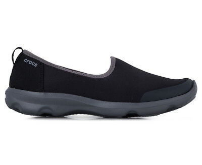 Crocs Women's Busy Day Stretch Skimmer - Black/Graphite