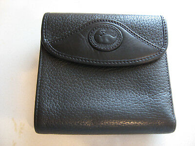 Dooney & Bourke AWL Tri Fold Wallet Black with Kiss Lock